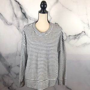 AERIE striped oversized sweater